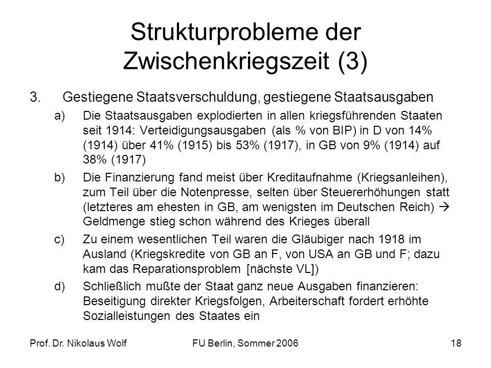 Strukturprobleme der Zwischenkriegszeit (3)