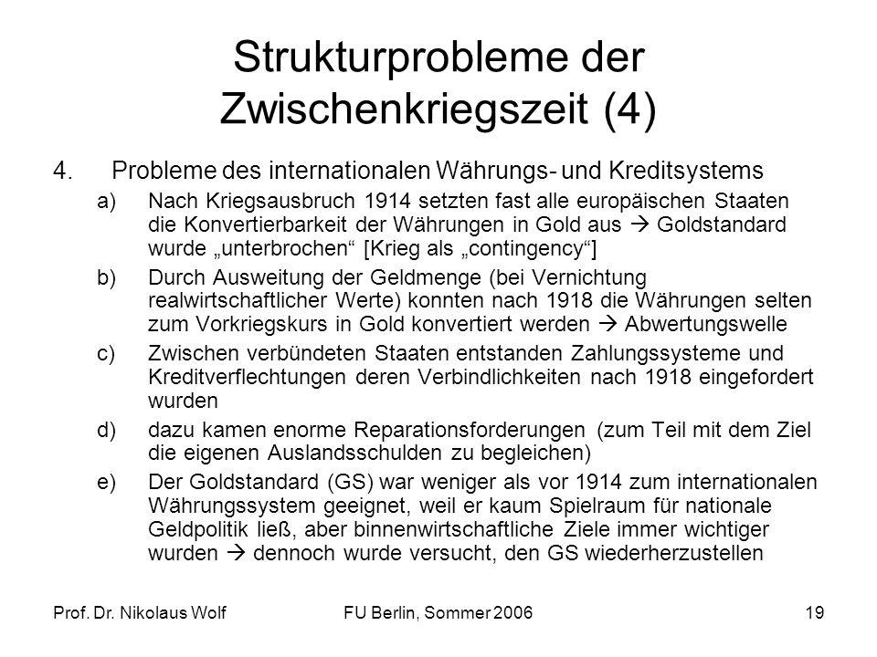 Strukturprobleme der Zwischenkriegszeit (4)