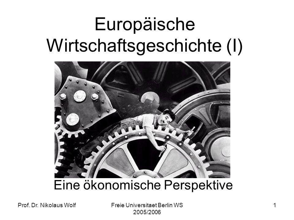 Europäische Wirtschaftsgeschichte (I)