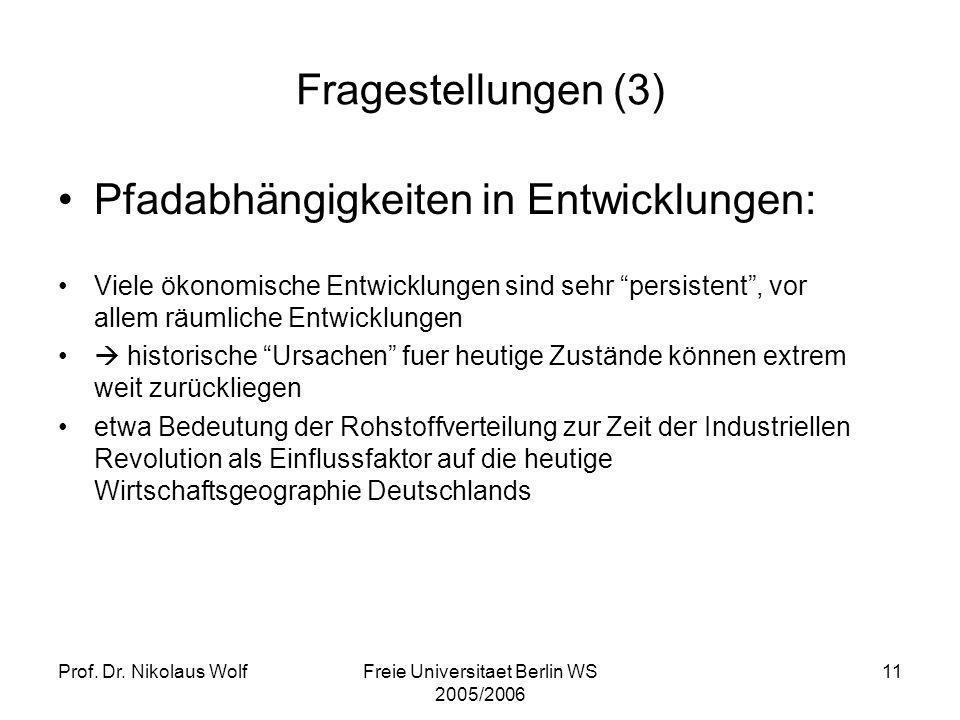 Freie Universitaet Berlin WS 2005/2006