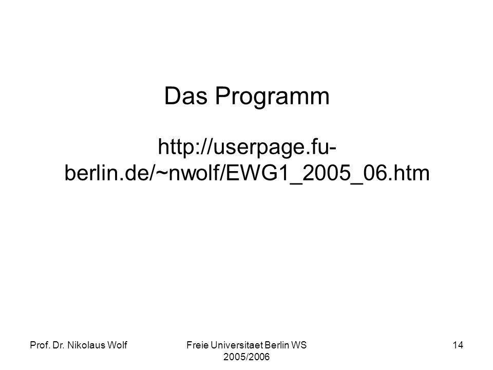 Das Programm http://userpage.fu-berlin.de/~nwolf/EWG1_2005_06.htm