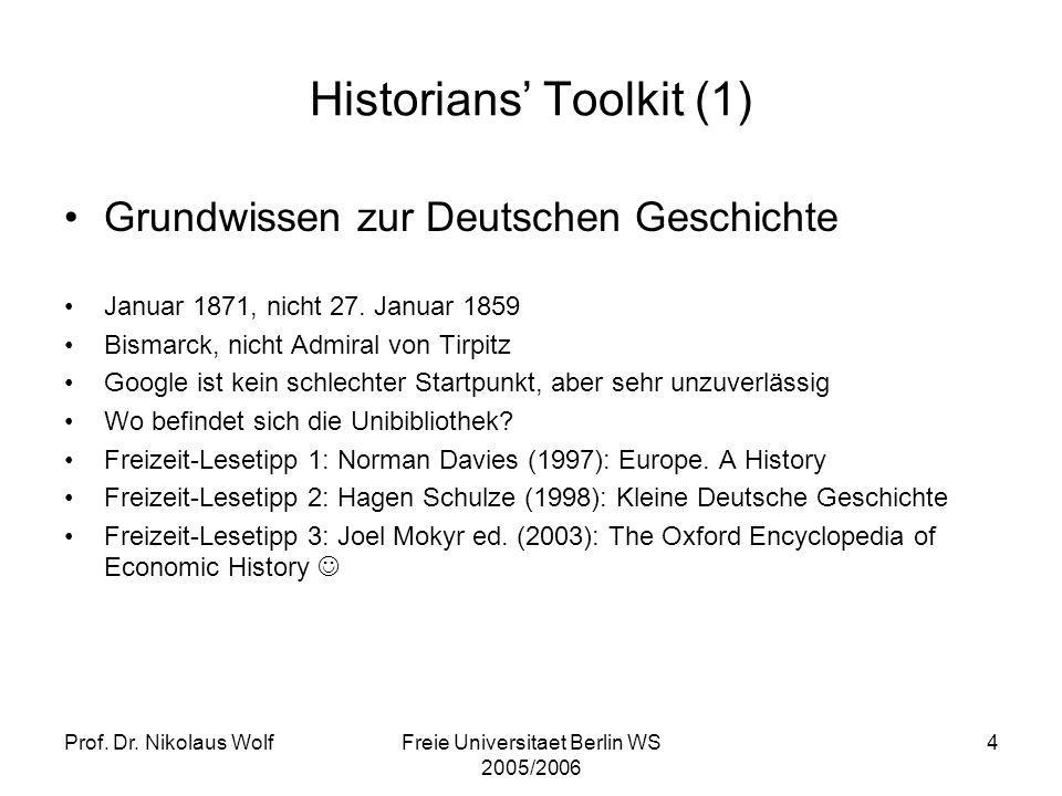 Historians' Toolkit (1)
