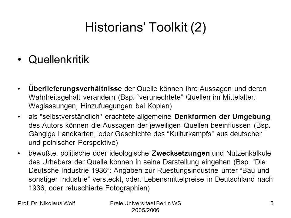 Historians' Toolkit (2)