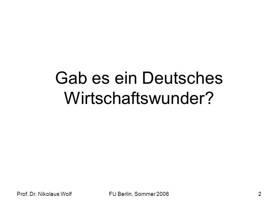 Gab es ein Deutsches Wirtschaftswunder
