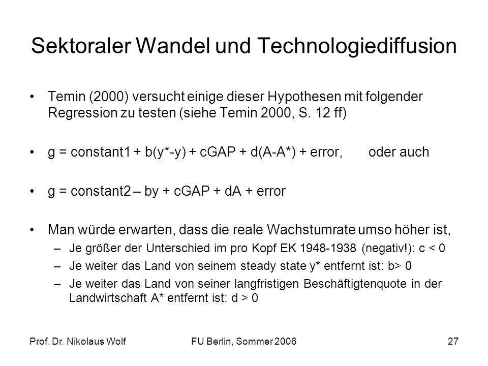 Sektoraler Wandel und Technologiediffusion