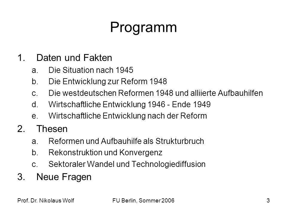 Programm Daten und Fakten Thesen Neue Fragen Die Situation nach 1945