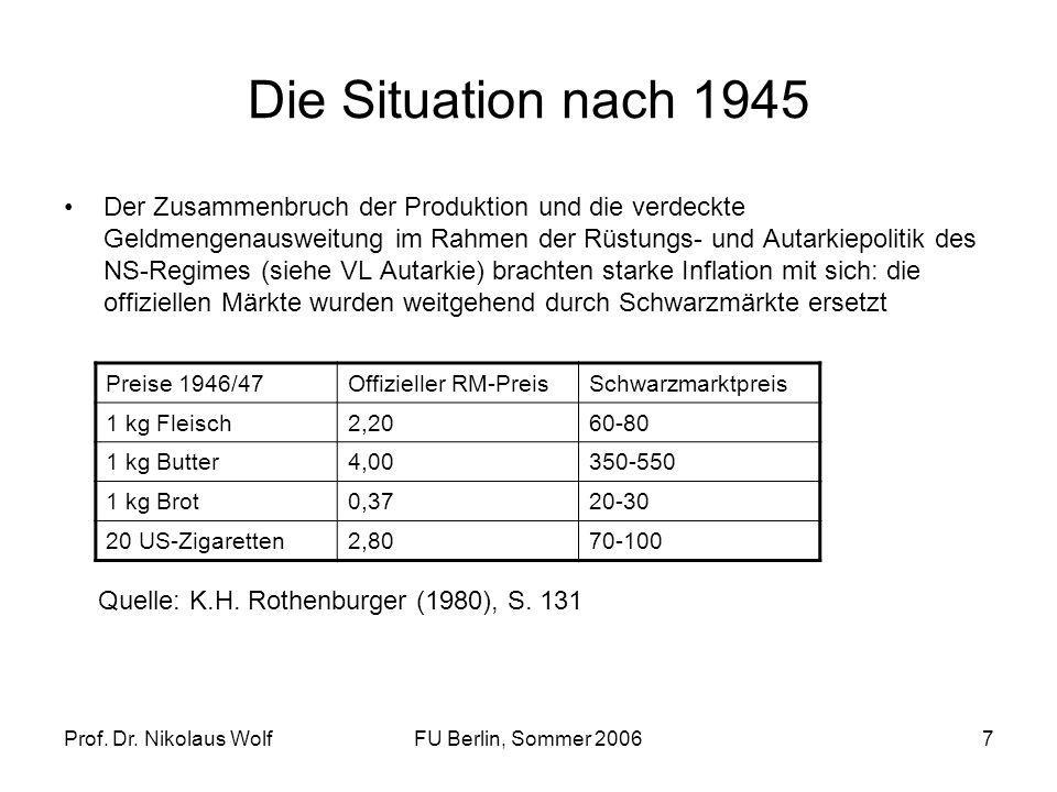 Die Situation nach 1945