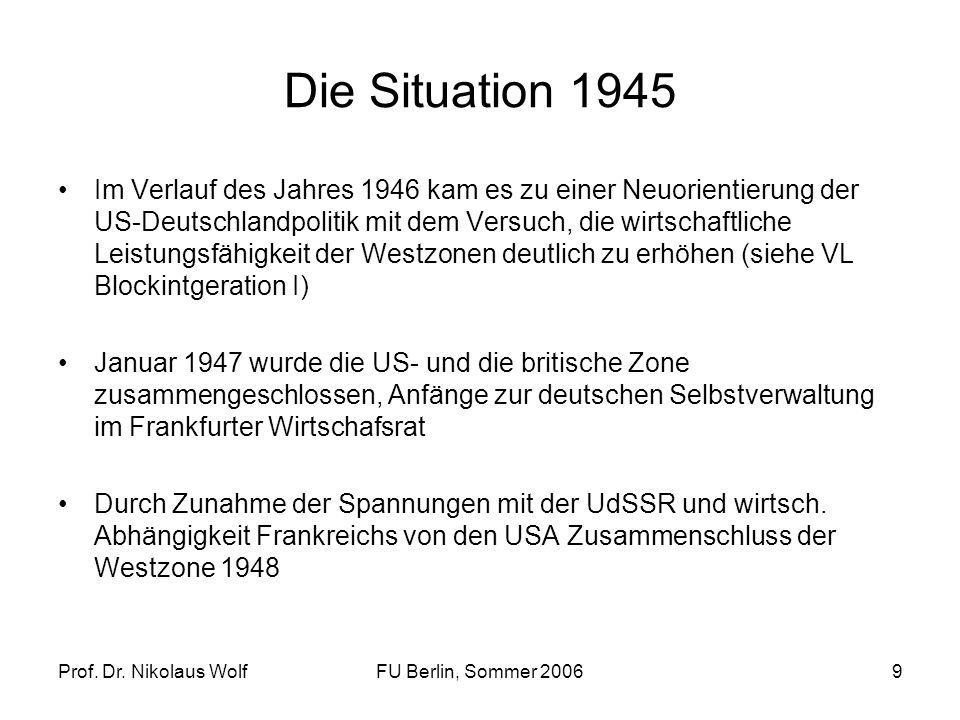 Die Situation 1945