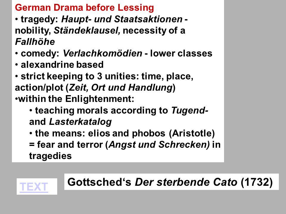 Gottsched's Der sterbende Cato (1732) TEXT