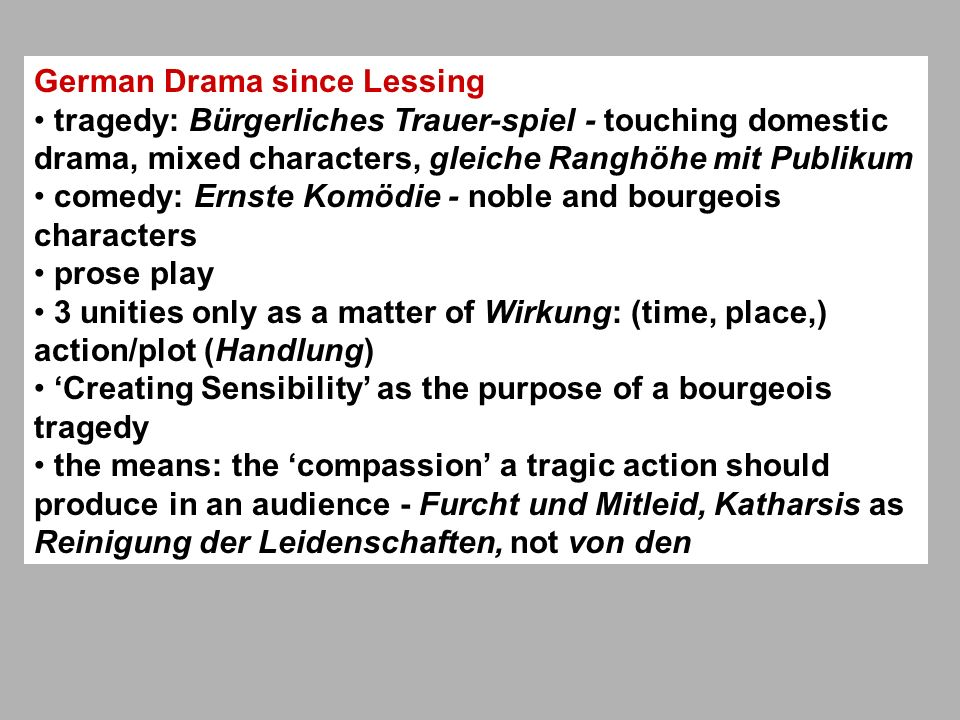 German Drama since Lessing