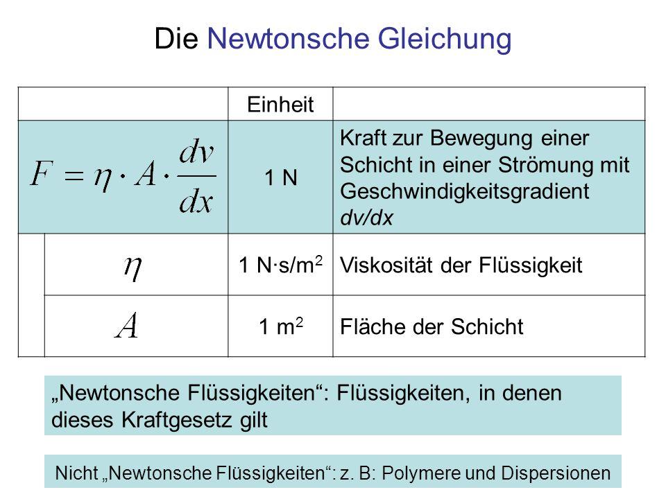 Die Newtonsche Gleichung