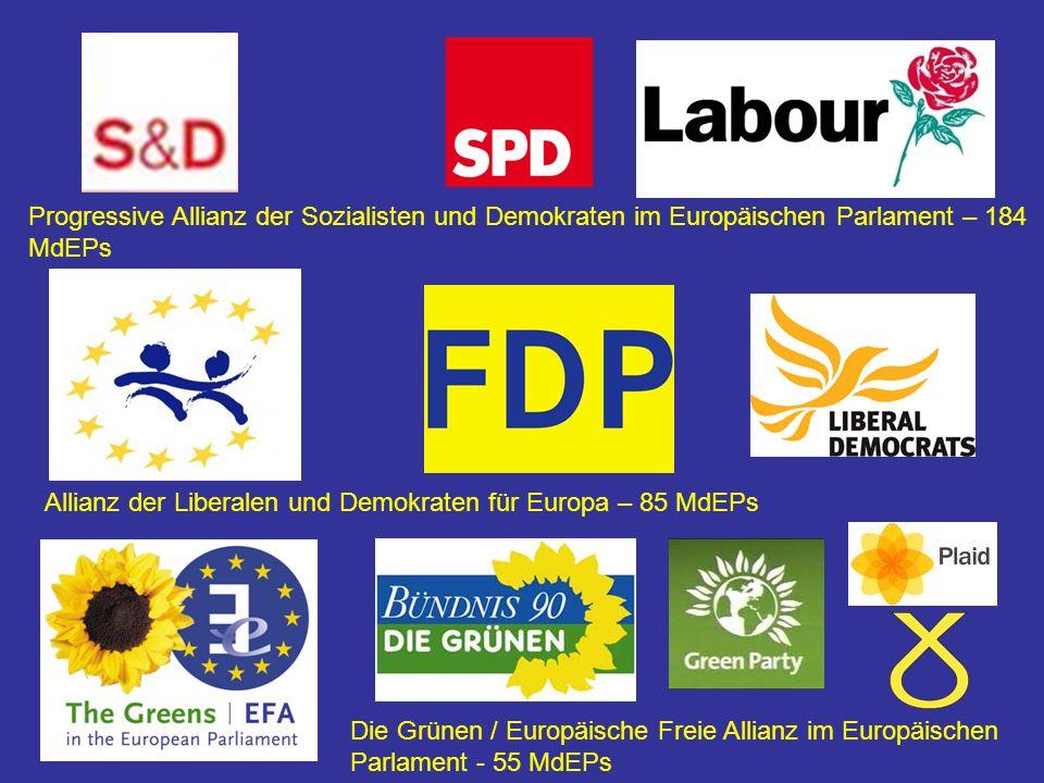 Progressive Allianz der Sozialisten und Demokraten im Europäischen Parlament – 184 MdEPs