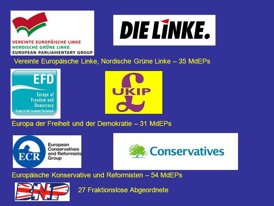 Vereinte Europäische Linke, Nordische Grüne Linke – 35 MdEPs