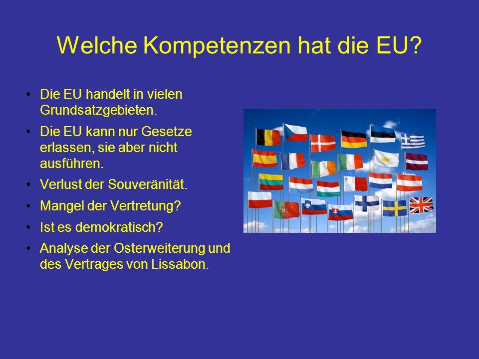 Welche Kompetenzen hat die EU