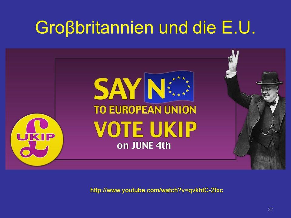 Groβbritannien und die E.U.