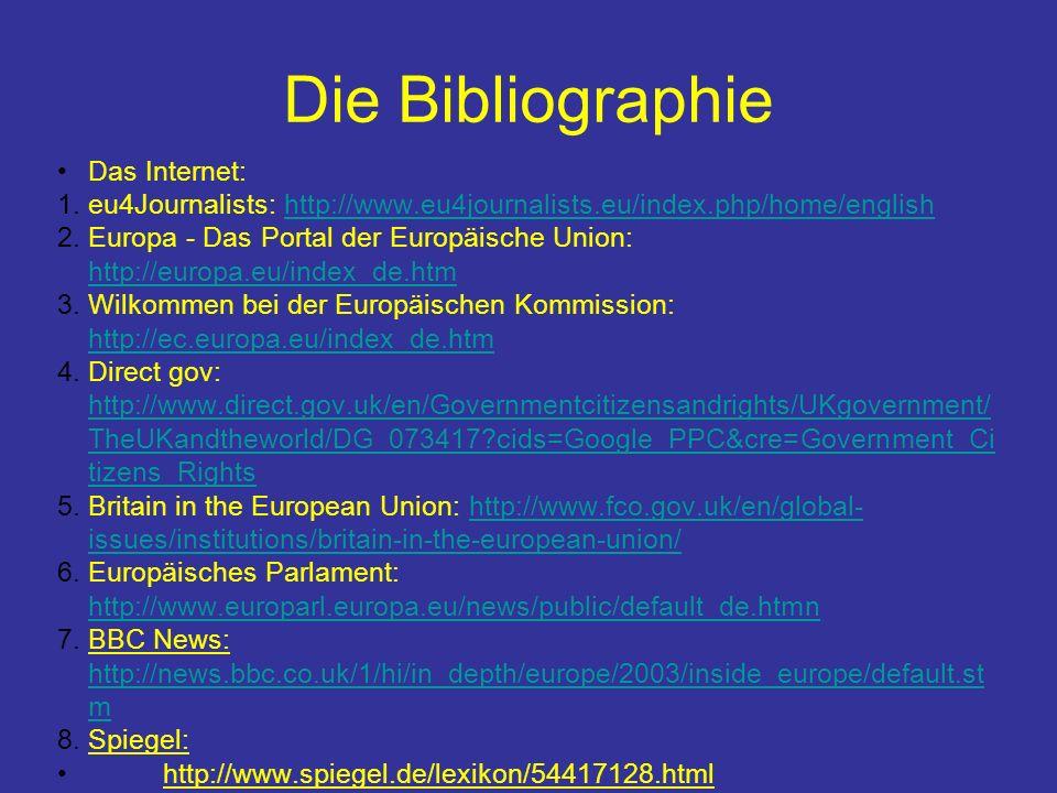 Die Bibliographie Das Internet: