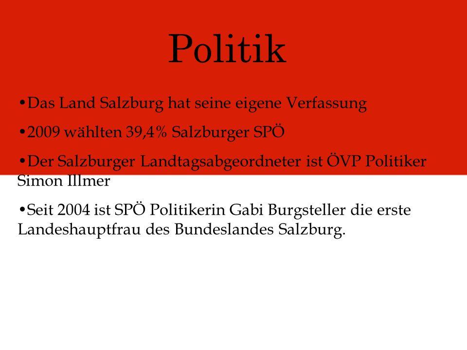 Politik Das Land Salzburg hat seine eigene Verfassung