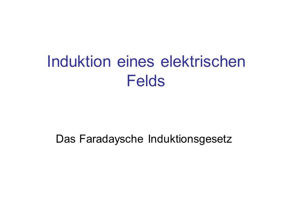 Induktion eines elektrischen Felds