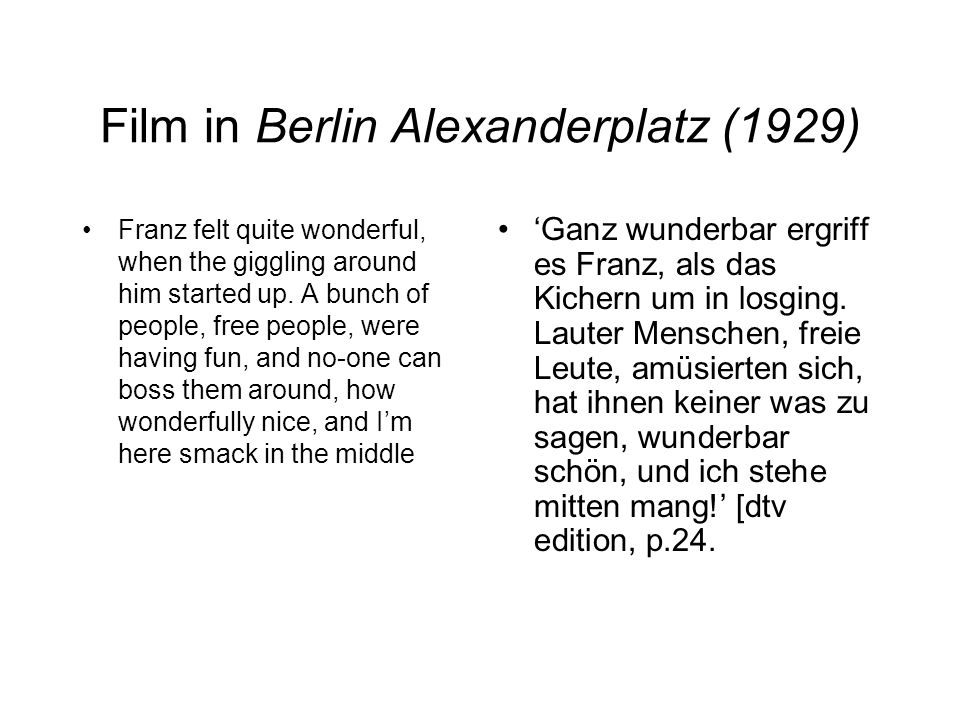 Film in Berlin Alexanderplatz (1929)