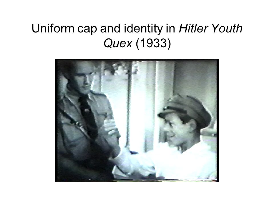 Uniform cap and identity in Hitler Youth Quex (1933)