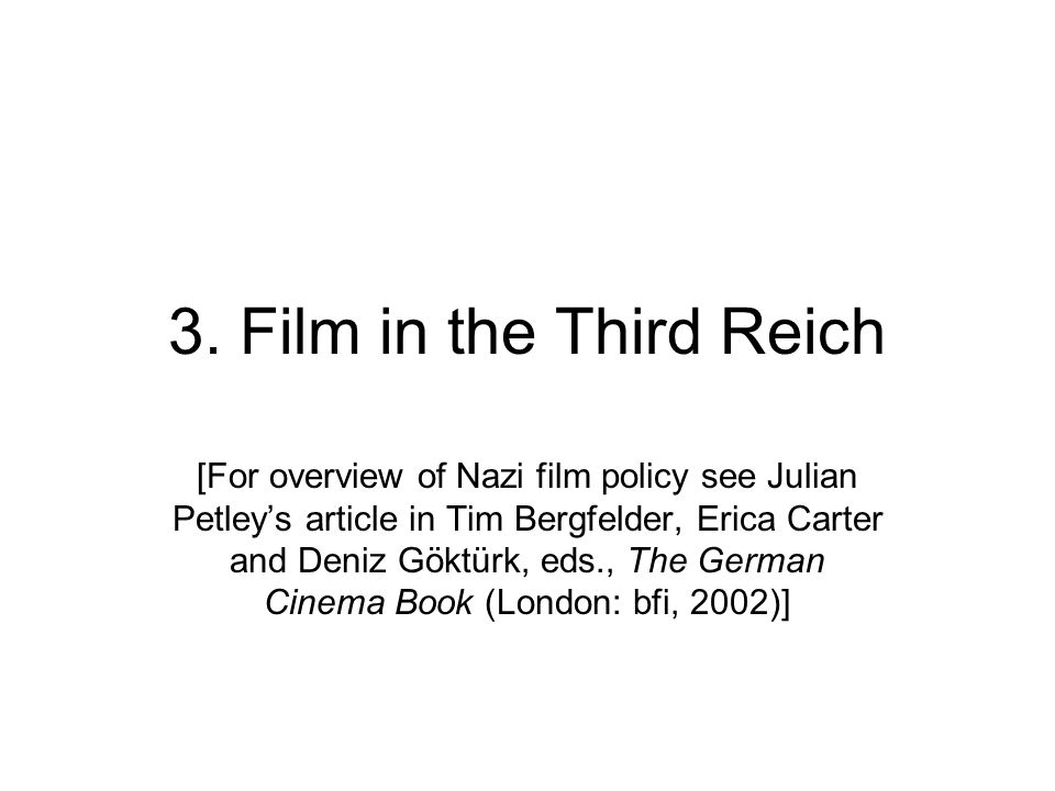 3. Film in the Third Reich