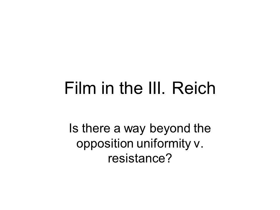 Is there a way beyond the opposition uniformity v. resistance