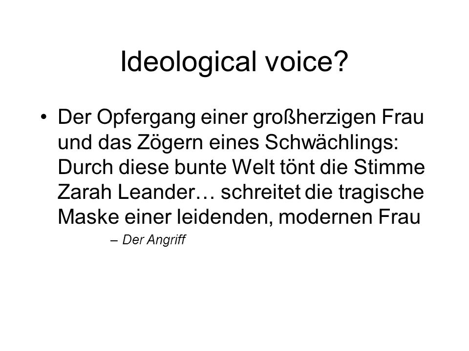 Ideological voice