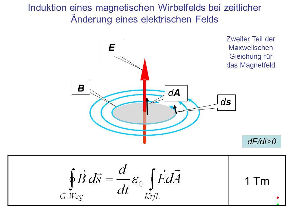 Zweiter Teil der Maxwellschen Gleichung für das Magnetfeld