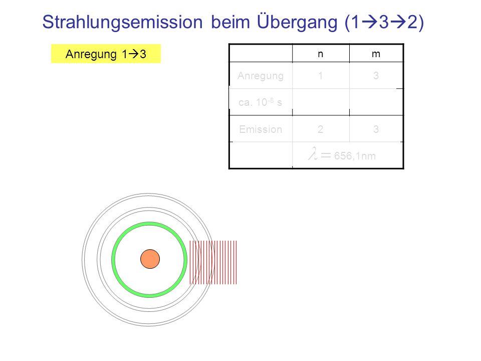 Strahlungsemission beim Übergang (132)