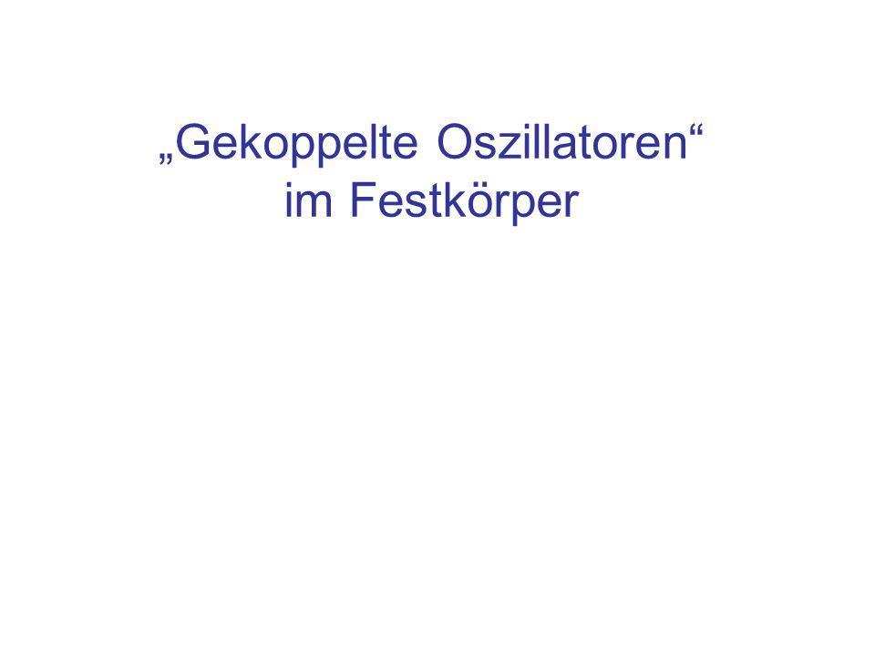 """""""Gekoppelte Oszillatoren im Festkörper"""
