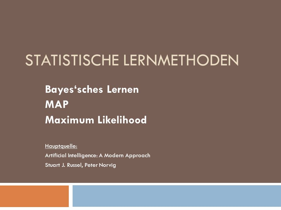 Statistische Lernmethoden