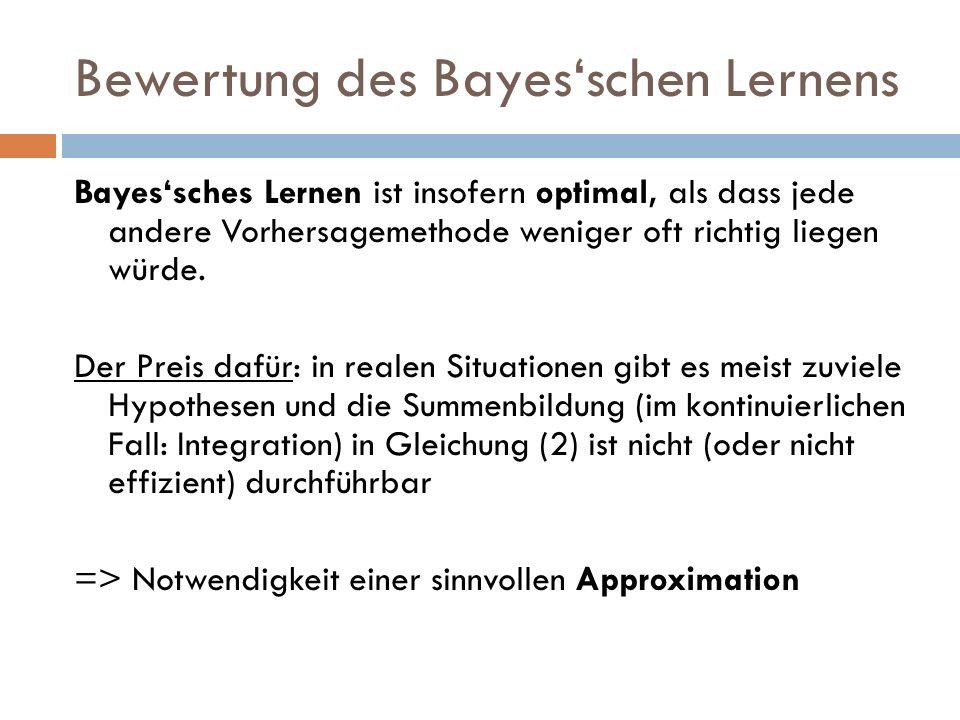 Bewertung des Bayes'schen Lernens