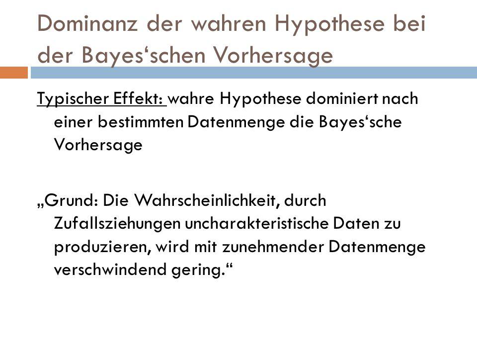 Dominanz der wahren Hypothese bei der Bayes'schen Vorhersage