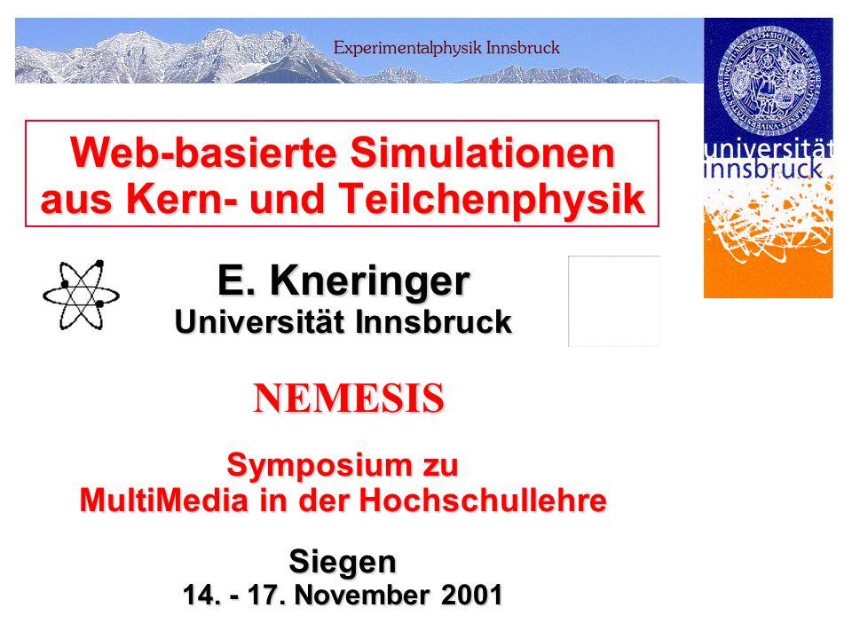 Web-basierte Simulationen aus Kern- und Teilchenphysik E