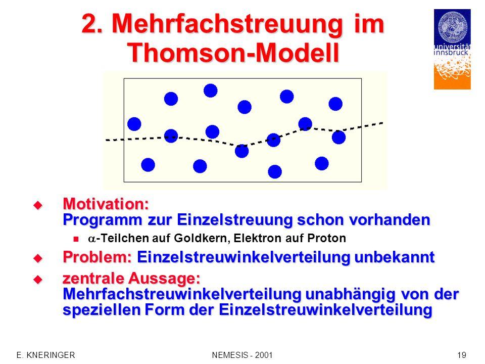 2. Mehrfachstreuung im Thomson-Modell
