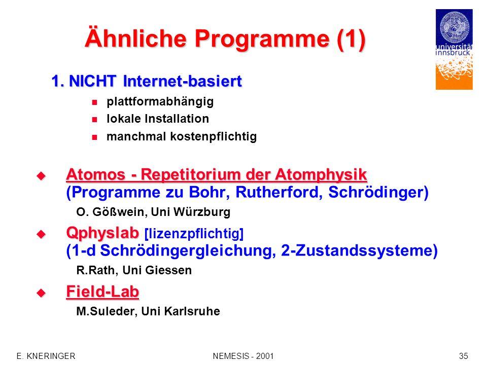 Ähnliche Programme (1) 1. NICHT Internet-basiert