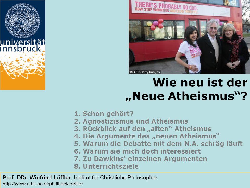 """Wie neu ist der """"Neue Atheismus"""