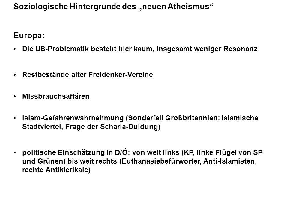"""Soziologische Hintergründe des """"neuen Atheismus"""