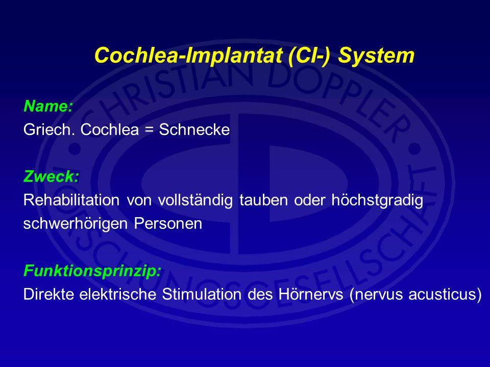 Cochlea-Implantat (CI-) System