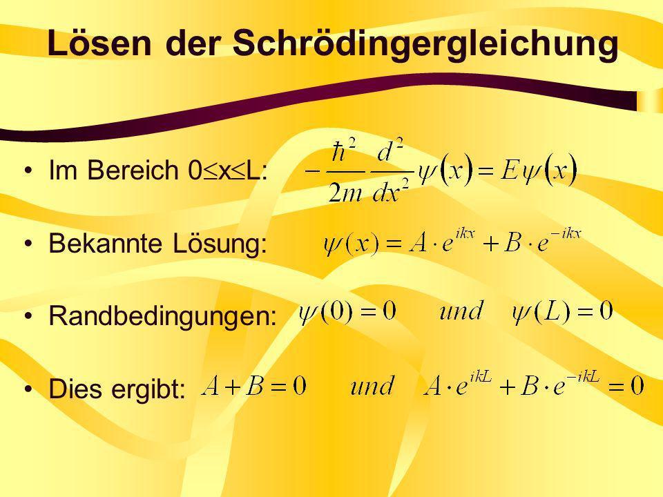 Lösen der Schrödingergleichung