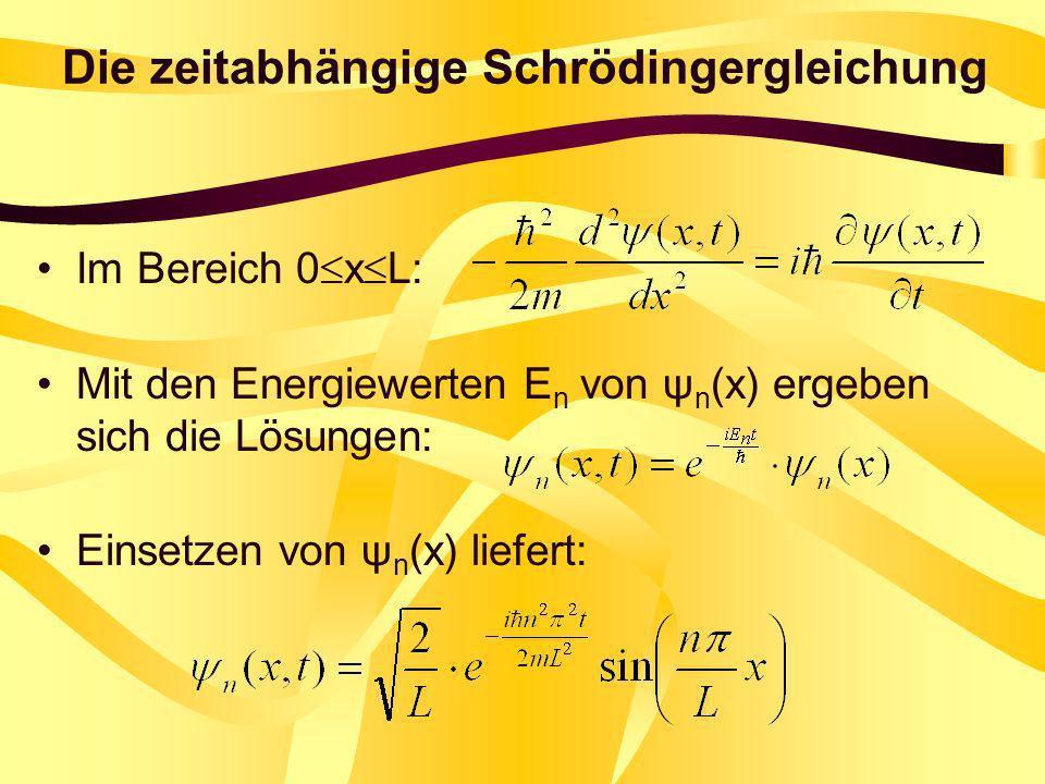 Die zeitabhängige Schrödingergleichung