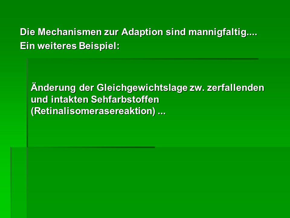 Die Mechanismen zur Adaption sind mannigfaltig....