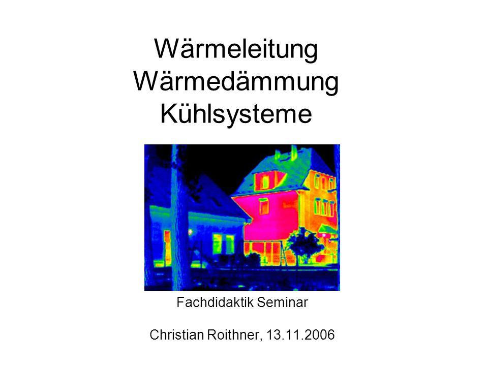 Wärmeleitung Wärmedämmung Kühlsysteme