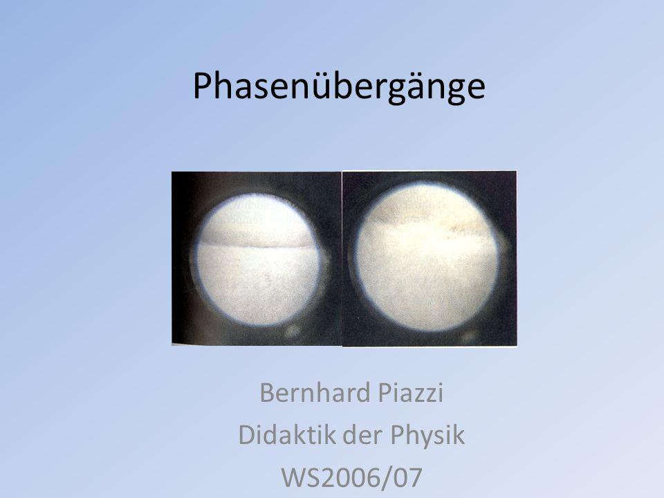 Bernhard Piazzi Didaktik der Physik WS2006/07