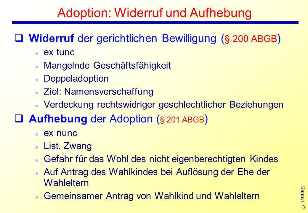 Adoption: Widerruf und Aufhebung