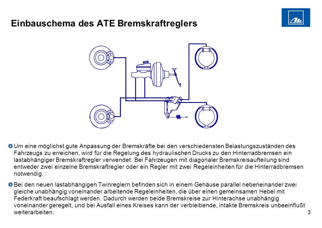 Einbauschema des ATE Bremskraftreglers