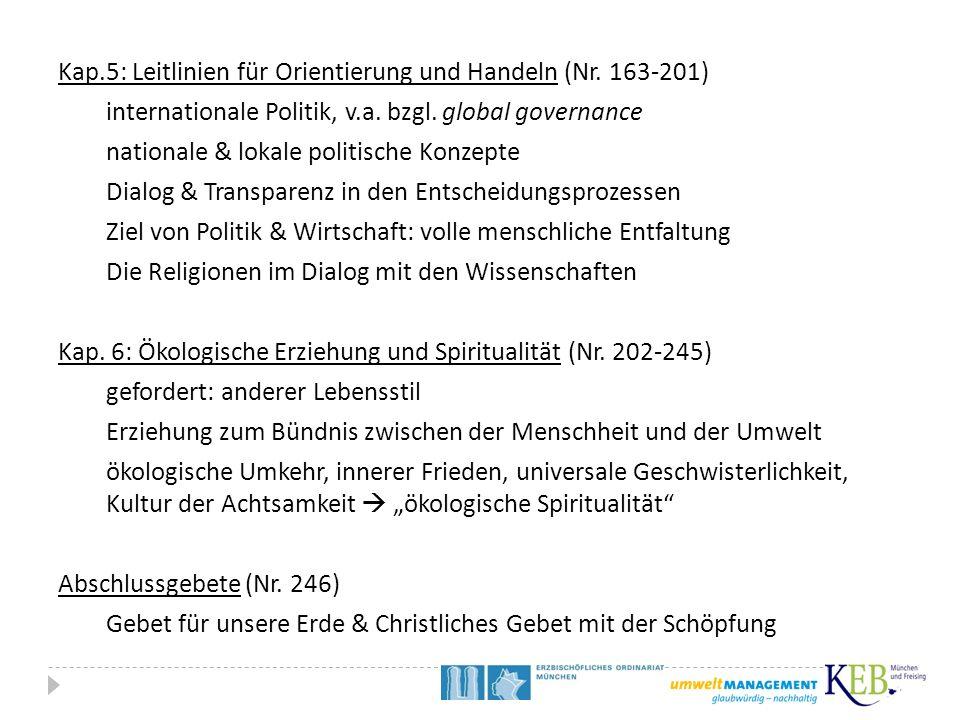 Kap. 5: Leitlinien für Orientierung und Handeln (Nr