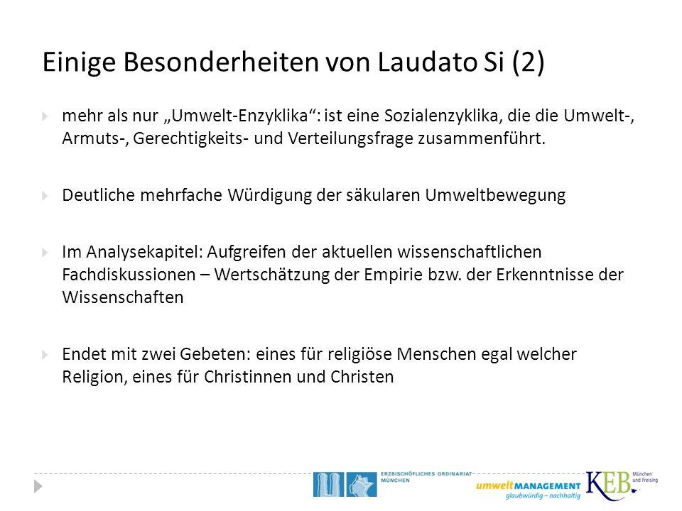 Einige Besonderheiten von Laudato Si (2)