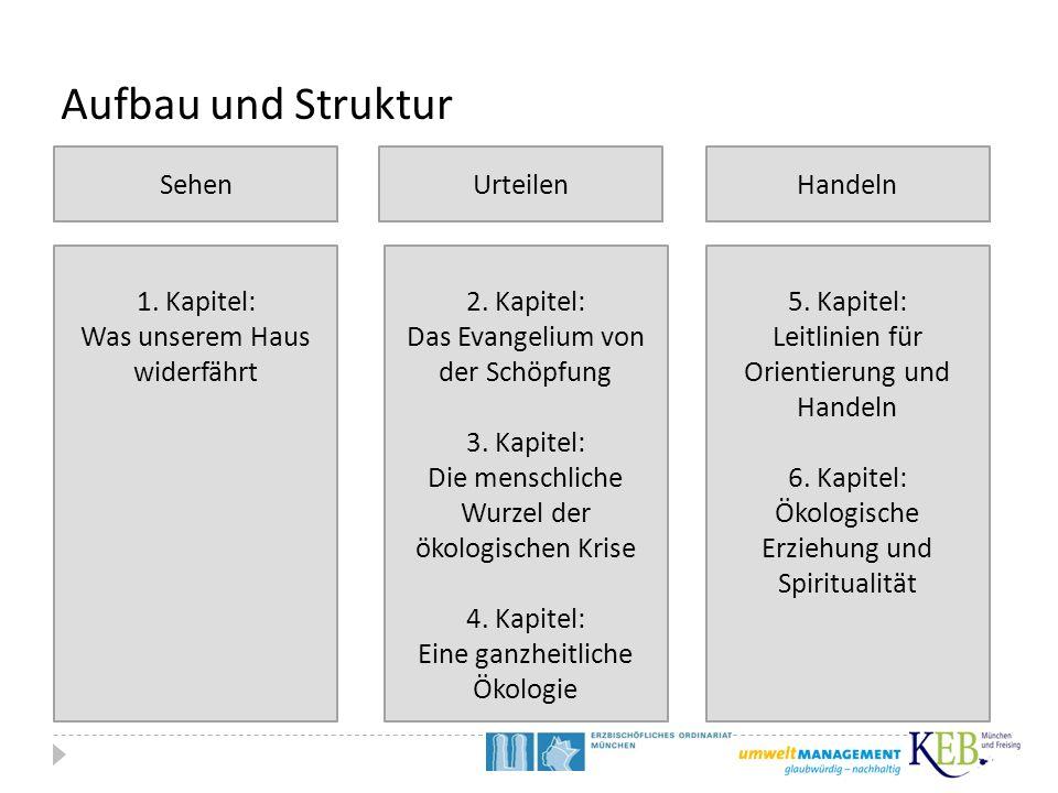 Aufbau und Struktur Sehen Urteilen Handeln 1. Kapitel: