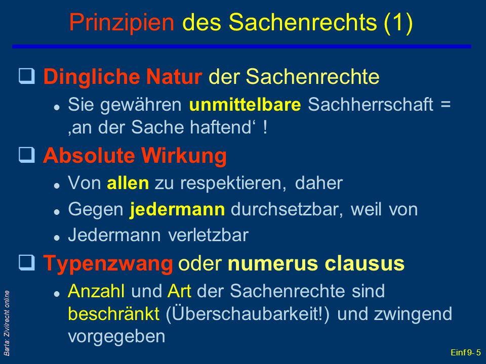 Prinzipien des Sachenrechts (1)